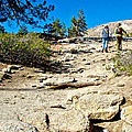 Hikers On Sentinel Dome Trail In Yosemite Np-ca  by Ruth Hager