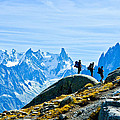 Hiking Above Chamonix On The Lac Blanc Trail by Jeff Black