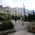 Hiking In The Rocky Mountains by Walt Sterneman