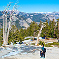 Hiking On Barren Rock On Sentinel Dome In Yosemite Np-ca by Ruth Hager