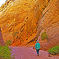 Hiking On Capitol Gorge Pioneer Trail In Capitol Reef National Park-utah by Ruth Hager