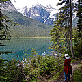Hiking On Emerald Lake Trail In Yoho Np-bc by Ruth Hager