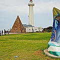 Hill Lighthouse Built In 1861 And Donkin Memorial Pyramid Honoring The Wife Of Sir Rufus Donkin-sout by Ruth Hager