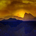 Hills In The Distance At Sunset by Hal Halli