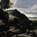 Hilly Landscape by Paul Brill or Bril