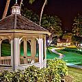 Hilton Waikoloa Village Gazebo by Bob Kinnison
