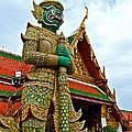 Hindu Figure At Grand Palace Of Thailand In Bangkok by Ruth Hager