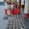 Hindu Priests Prepare Offering To Gods by Imran Ahmed