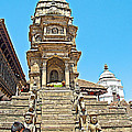 Hindu Temples In Bhaktapur Durbar Square In Bhaktapur-nepal by Ruth Hager
