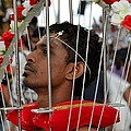 Hindu Thaipusam Festival Pierced Devotee In Singapore by Imran Ahmed