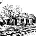 Hinsdale Train Station by Mary Palmer