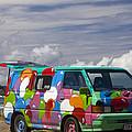 Hippie Man Van by Martin Berry
