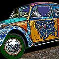 Hippie Vw Bug by Samuel Sheats