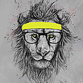 Hipster Lion by Balazs Solti