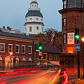 Historic Annapolis And Evening Traffic I by Clarence Holmes
