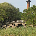 Historic Bridge And Currituck Light by Christiane Schulze Art And Photography