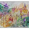 Historic Churches St Louis Mo - Digital Effect 5 by Debbie Portwood