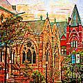Historic Churches St Louis Mo - Digital Effect 6 by Debbie Portwood