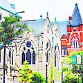 Historic Churches St Louis Mo - Digital Effect 7 by Debbie Portwood