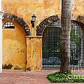 Historic Colonial Courtyard In Colombia by Jannis Werner
