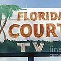 Historic Florida Motor Court Sign In Delray Beach. Florida. by Robert Birkenes