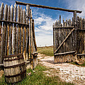 Historic Fort Bridger Gate - Wyoming by Gary Whitton
