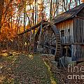Historic Grist Mill With Fall Foliage by Adam Jewell