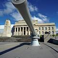 Historic Gun And Auckland War Memorial by David Wall