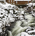 Historic Harrisville Nh In Winter by Betty Denise