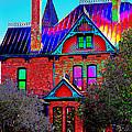 Historic House Pop Art by Phyllis Denton