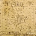 Historic Map Of Lexington Kentucky by David Neace