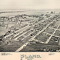 Historic Map Of Plano Texas 1891 by Mountain Dreams