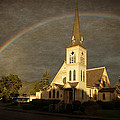 Historic Methodist Church In Rainbow Light by Mick Anderson
