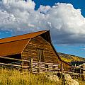 Historic Moore Barn Steamboat Springs Co by Teri Virbickis