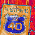 Historic Route 40 Pop Art by Bill Owen