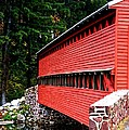Historic Sach's Covered Bridge by William Fox