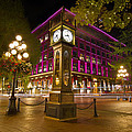 Historic Steam Clock In Gastown Vancouver Bc by Jit Lim