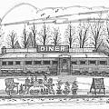 Historic Village Diner by Richard Wambach