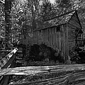 Historical 1868 Cades Cove Cable Mill In Black And White by Kathy Clark