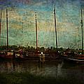 Historical Harbor Woudrichem The Netherlands by Guna Andersone