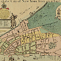 Historical Manhattan Map 1728 by Andrew Fare