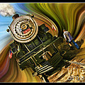 Historical Niles Southern Pacific 2472 Steam Engine 1921  by Blake Richards