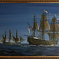 Hms Victory Dawn by Richard John Holden RA