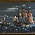 Hms Victory Early Wind by Richard John Holden RA