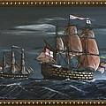 Hms Victory Early Wind by Richard John Holden RA