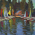 Hobie Cats At Lake Arrowhead by Diane McClary