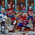 Hockey Art Vintage Game Montreal Forum by Carole Spandau