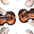 Hofner Bass Abstract by Bill Cannon
