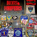 Hogs And Heifers Window by Ed Weidman
