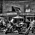 Hogs At The Tow Bar Inn - Old Forge New York by David Patterson